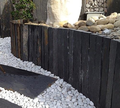 piquet de schiste 1m x 8 10cm d coration jardin. Black Bedroom Furniture Sets. Home Design Ideas