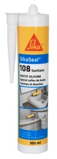 MASTIC SILICONE 300ML TRANSPARENT ANTI-MOISISSURE SANITAIRE SIKASEAL 108